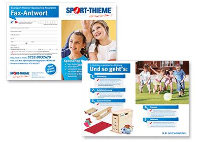 Sportsponsoring Faxformular von Sport-Thieme