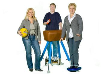 Der Vereinsbedarf: Nicole Raeck, Stefanie Behrnd und Susanne Dilz